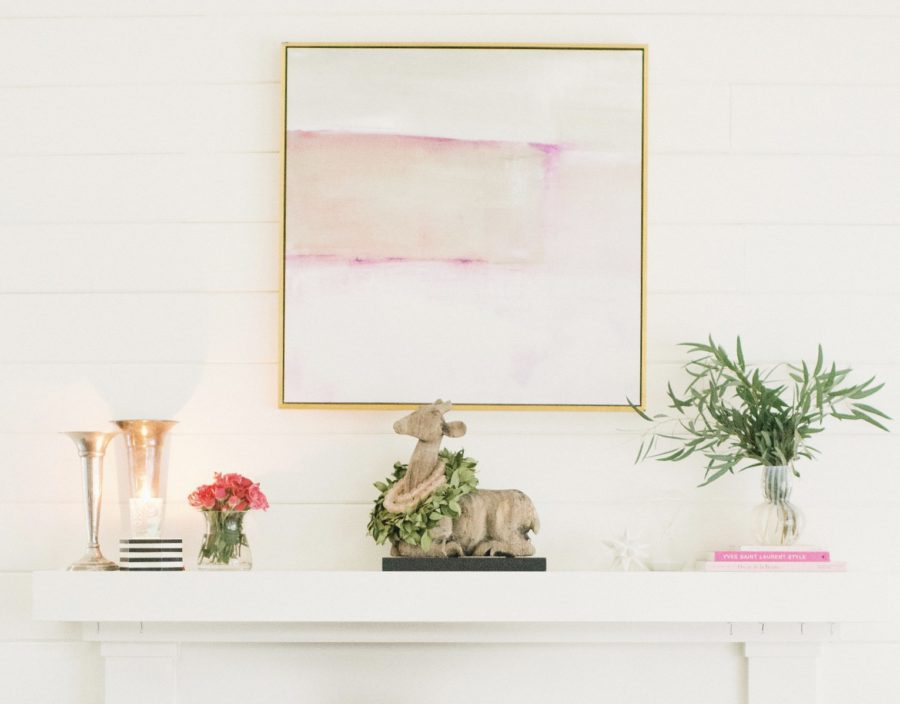 Valentine's Day inspired mantel for under $10!