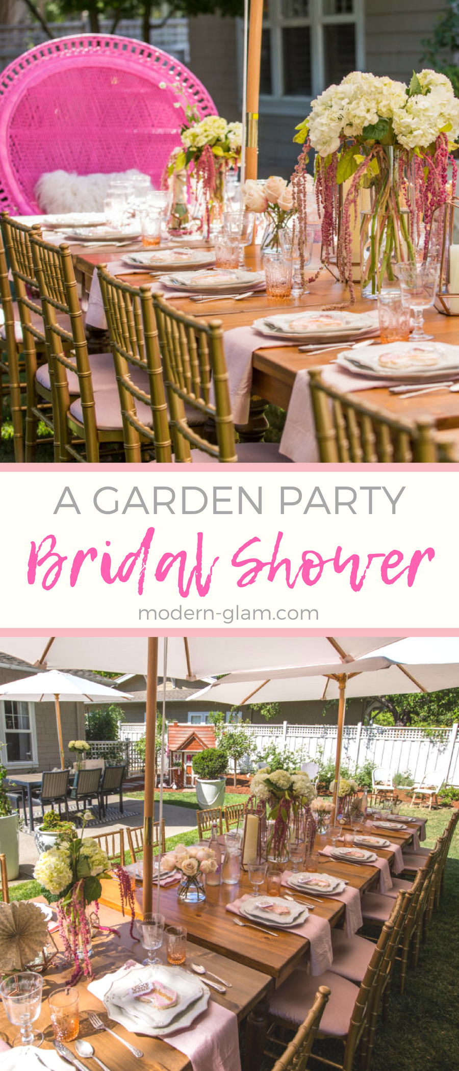 Garden Bridal Shower. A beautiful shower set in the garden. Pink Bridal Shower, Blush Tablescape. Bridal Brunch
