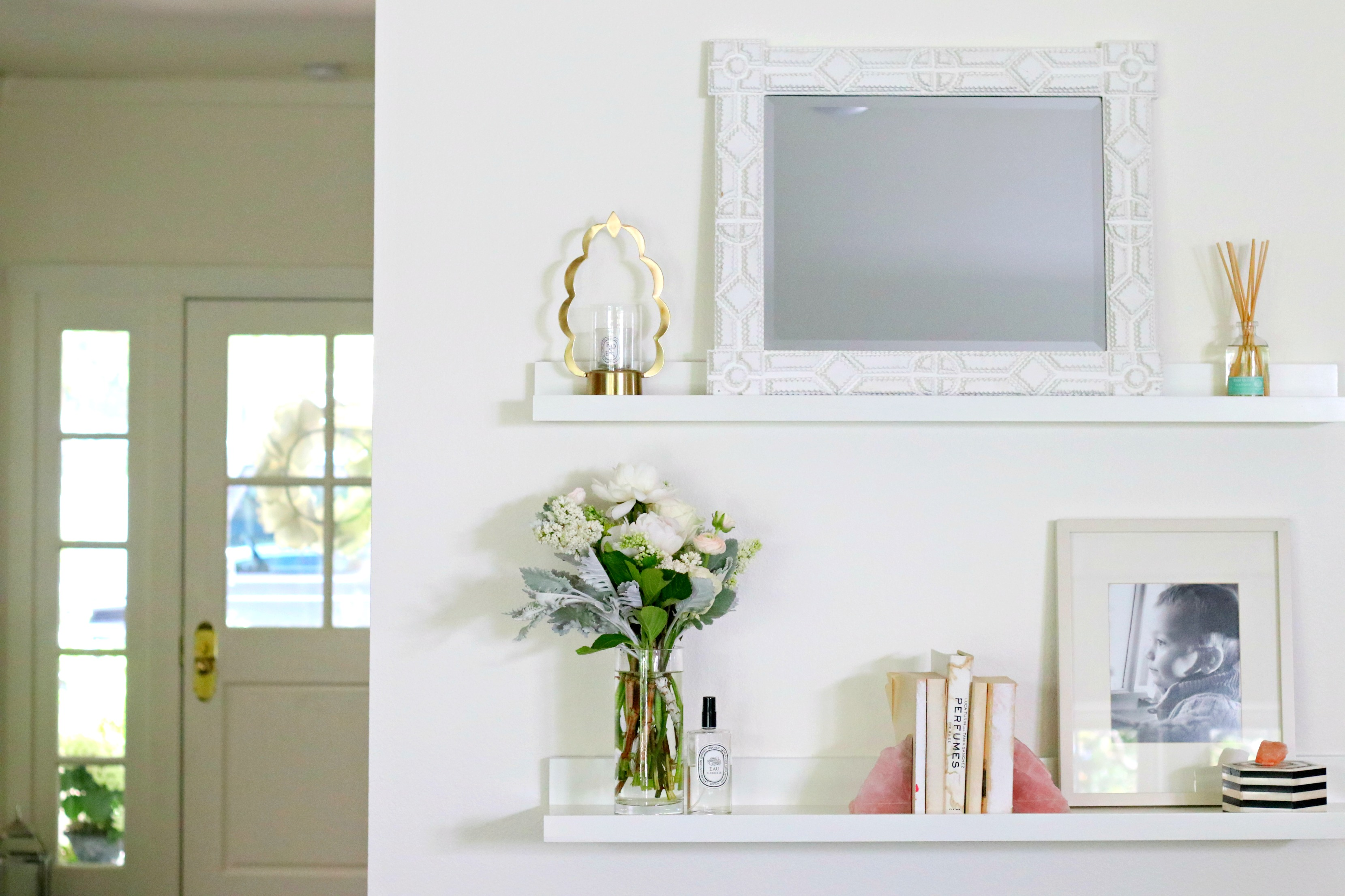 Springtime Shelf Styling