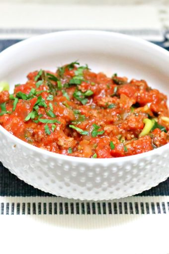 whole30 zoodles bolognese
