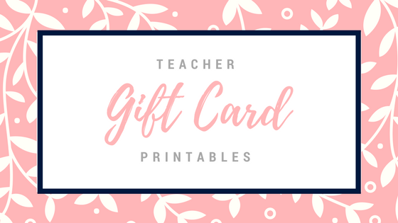 photograph about Printable Gift Card referred to as Instructor Present Card Printables