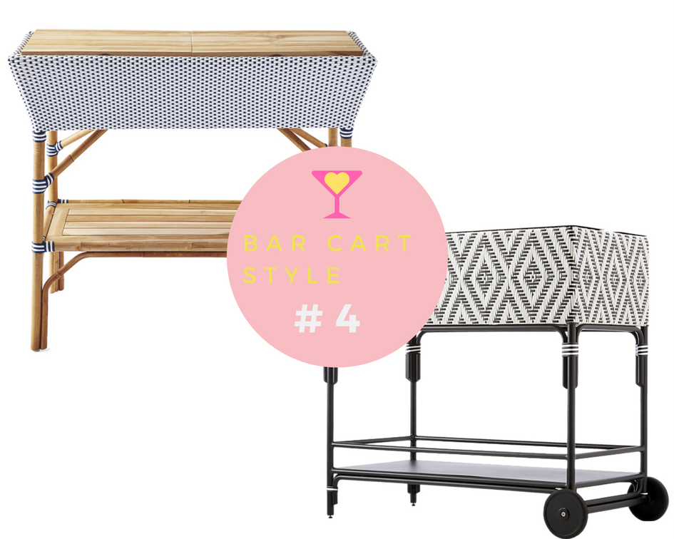 Bar Cart Style: High vs. Low