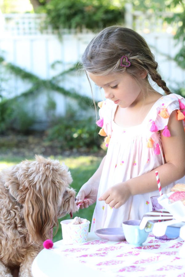 Garden Ice Cream Party and Recipe