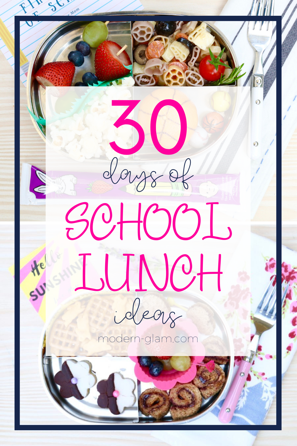 school lunch ideas printable