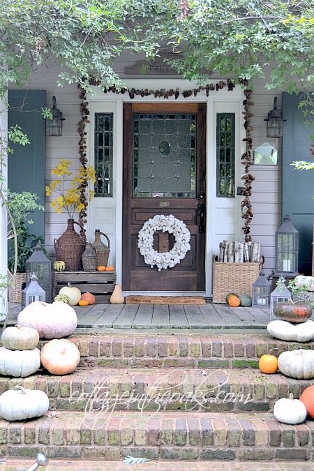 autumn decorating outdoor