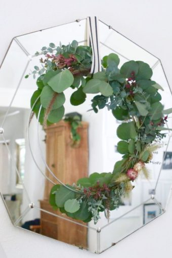 farmhouse rustic eucalyptus wreath