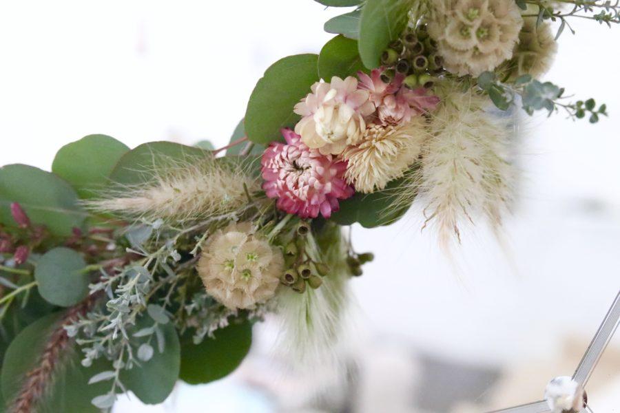 modern eucalyptus wreath
