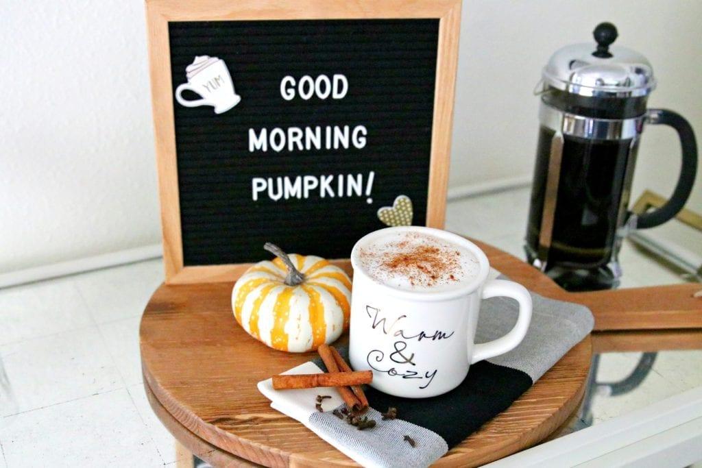 healthy pumpkin spice latte