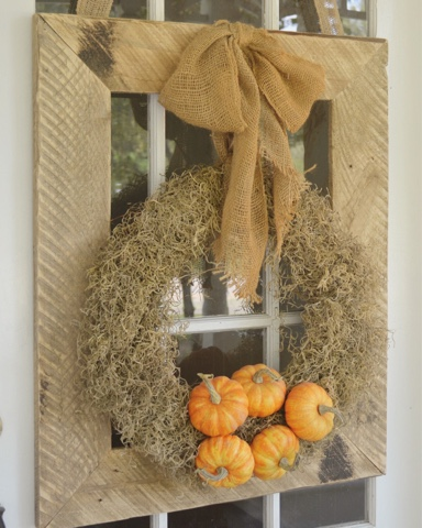 fall porch wreath decor