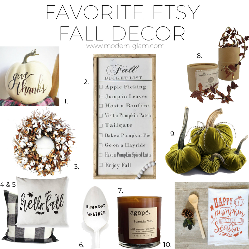 favorite fall decor etsy