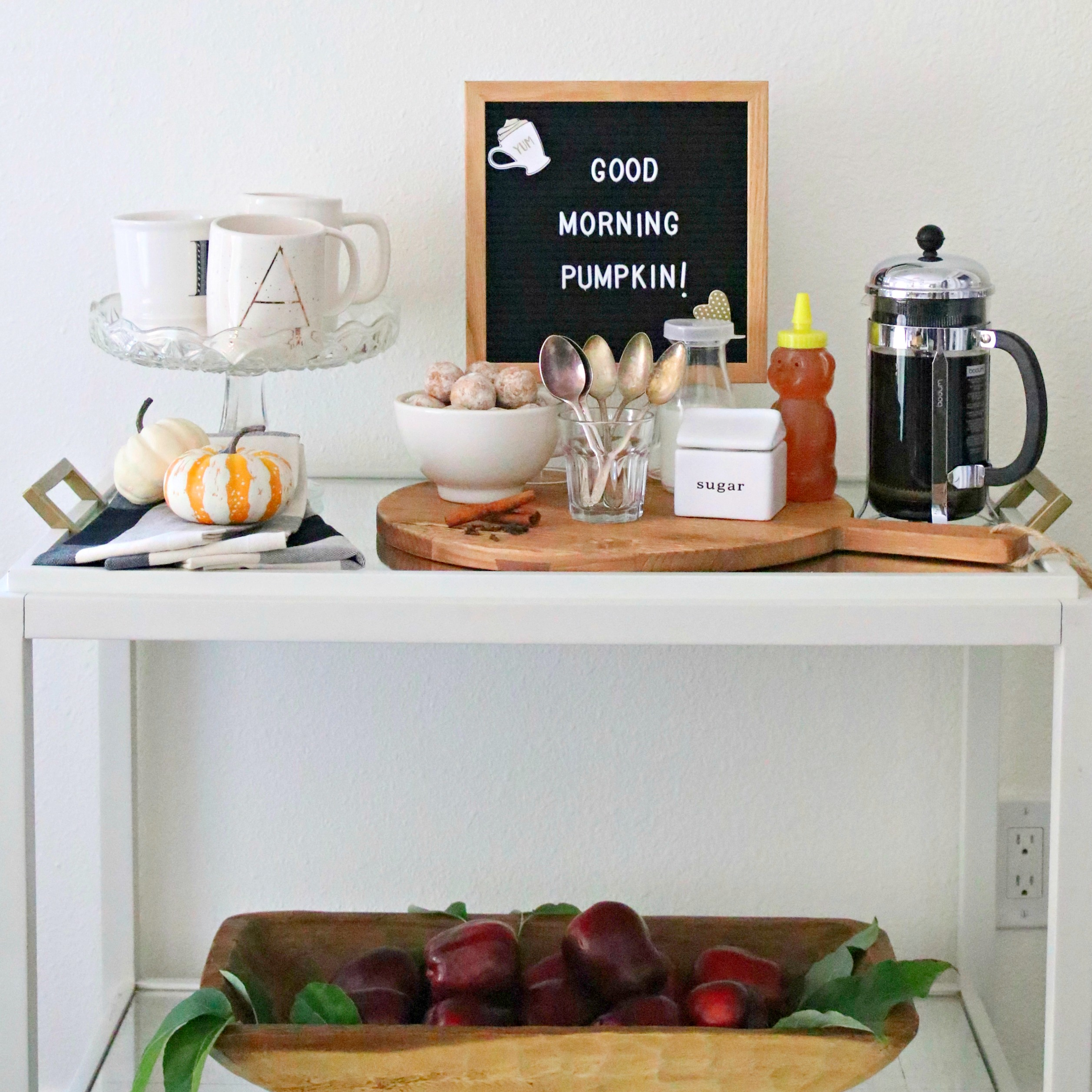 farmhouse bar cart fall