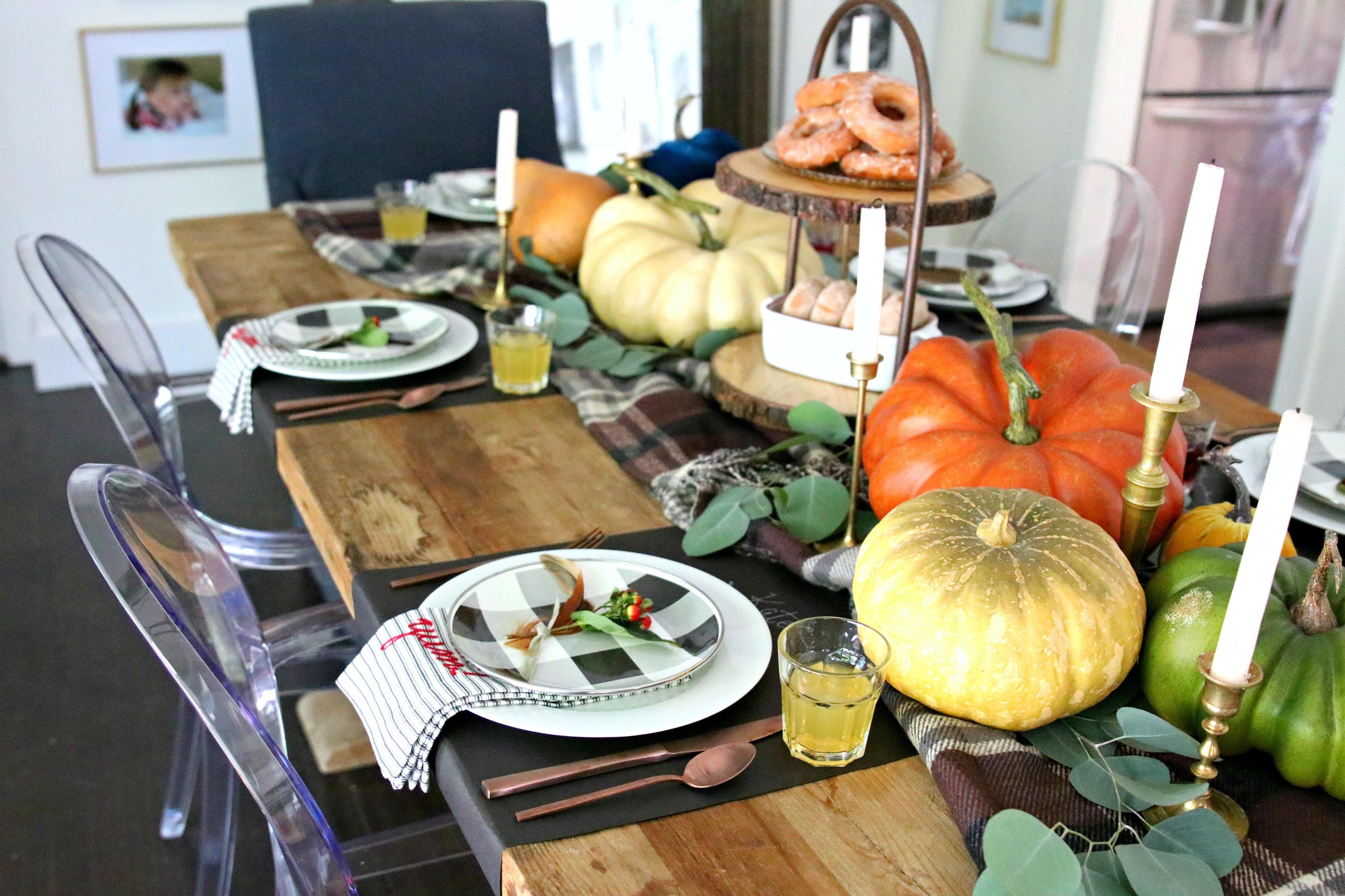 fall glam farmhouse tablescape