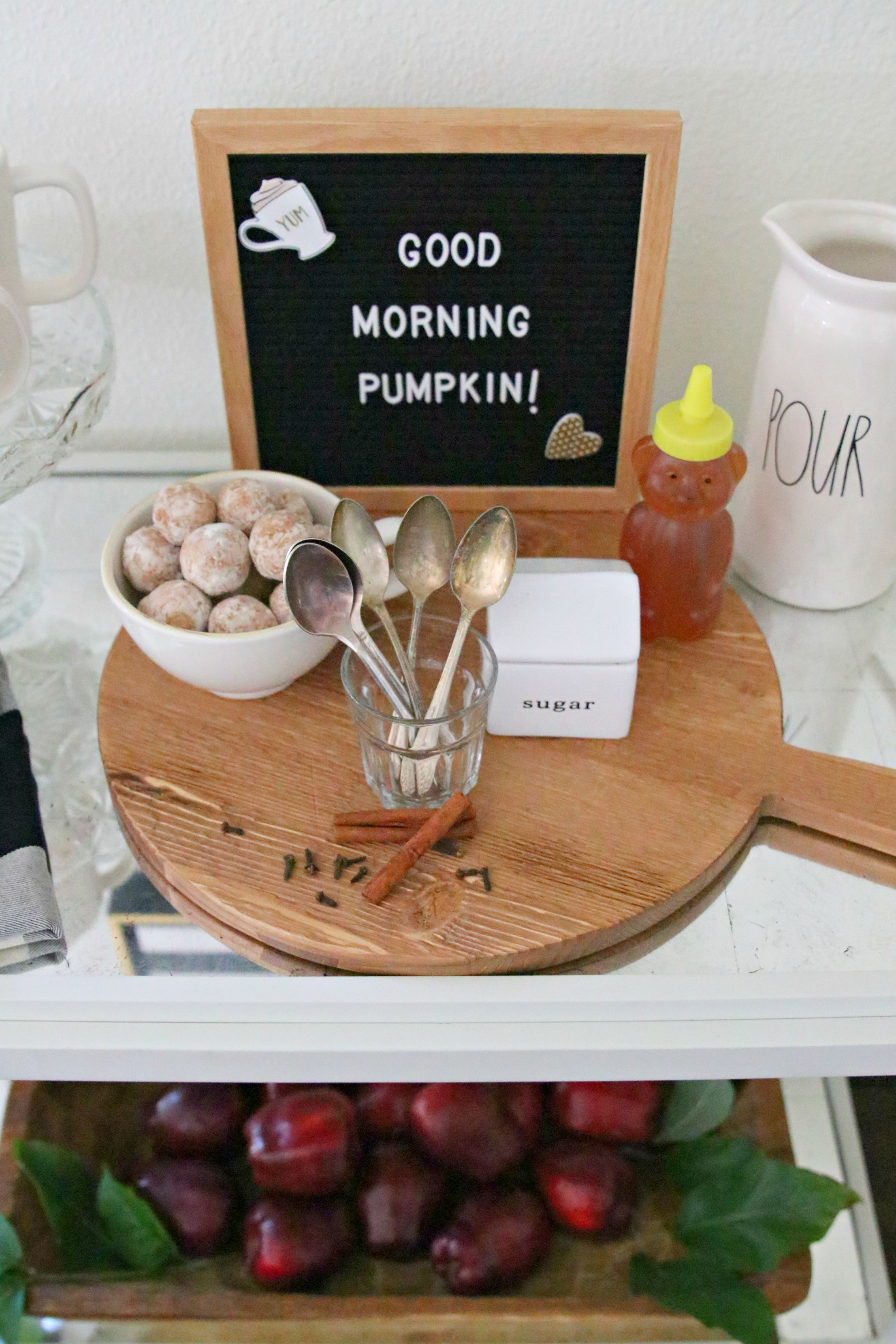 fall farmhouse coffee station
