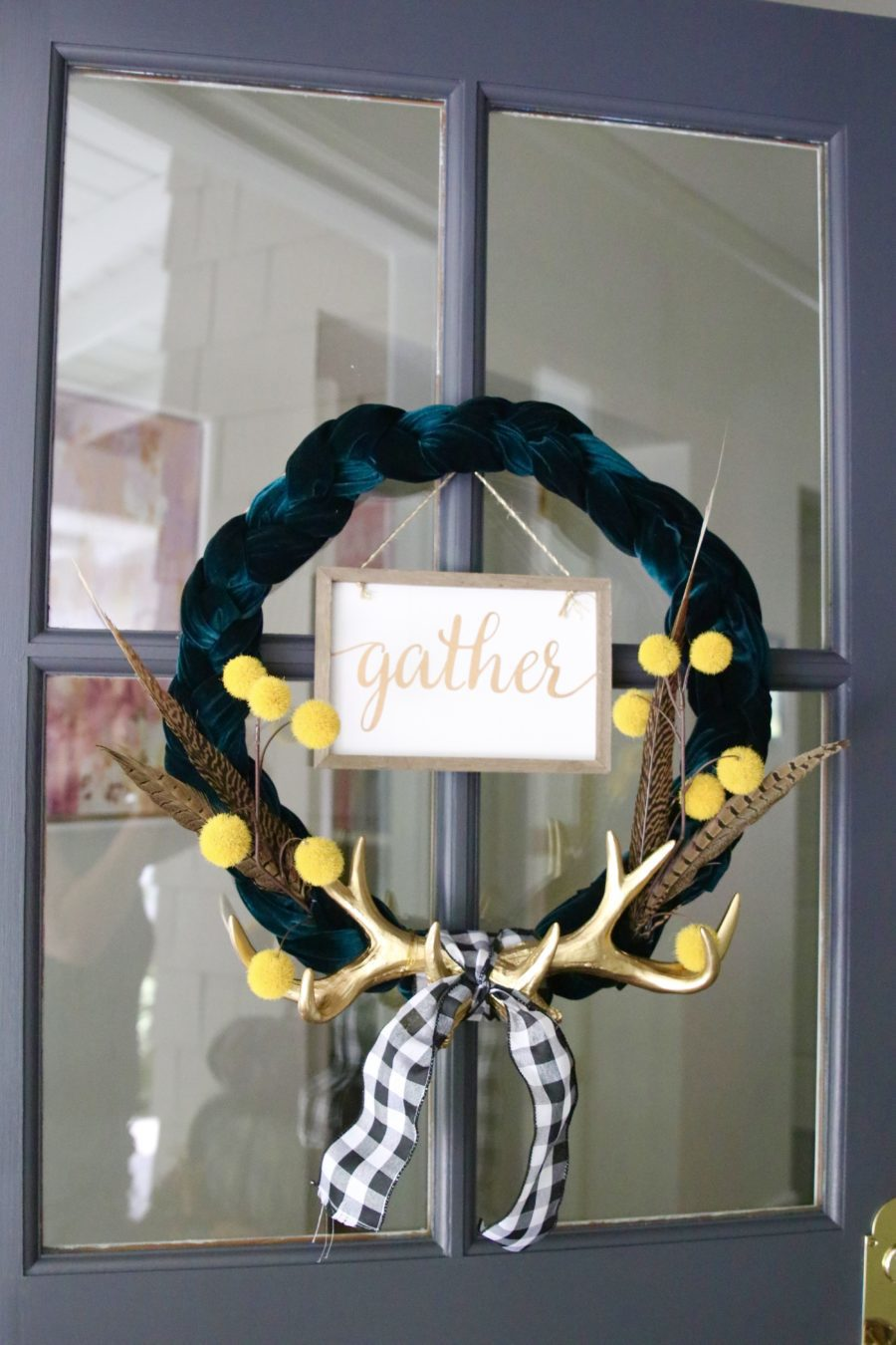 glam farmhouse fall wreath