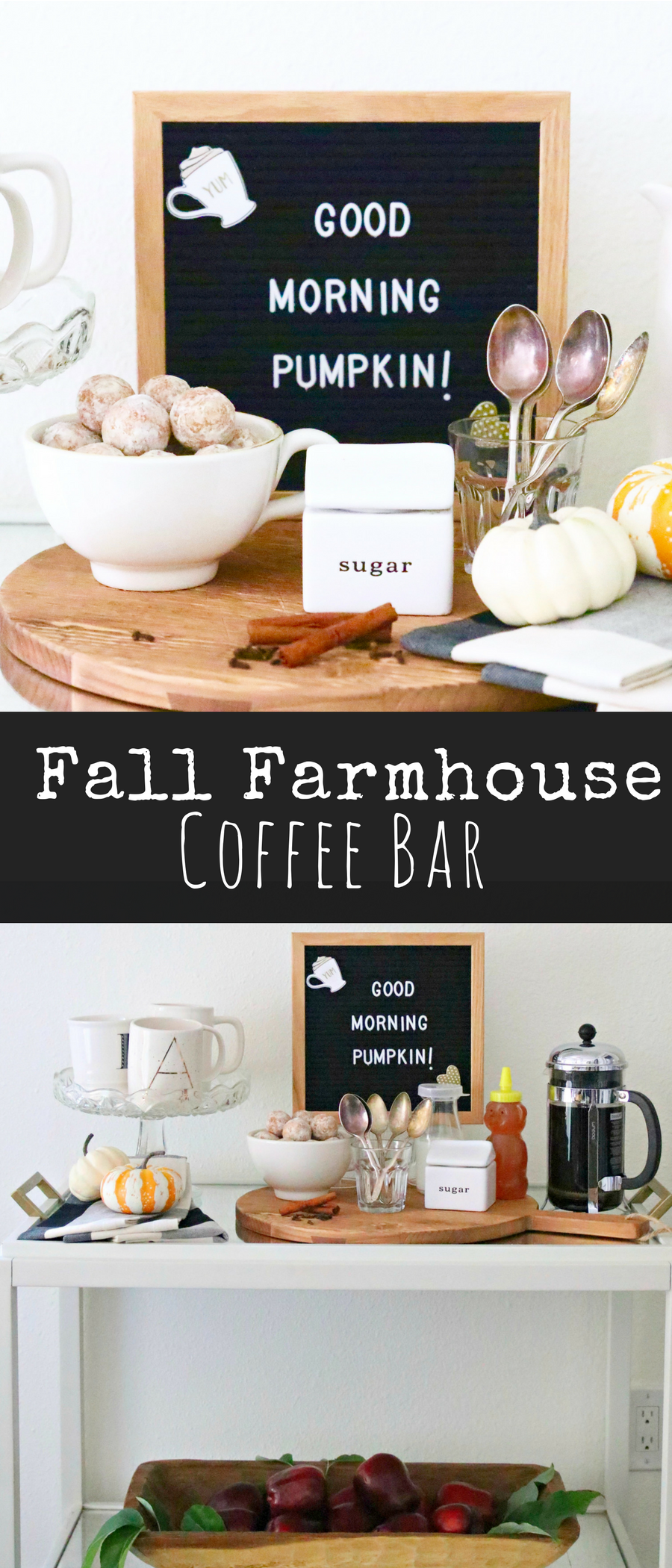 fall farmhouse coffee bar