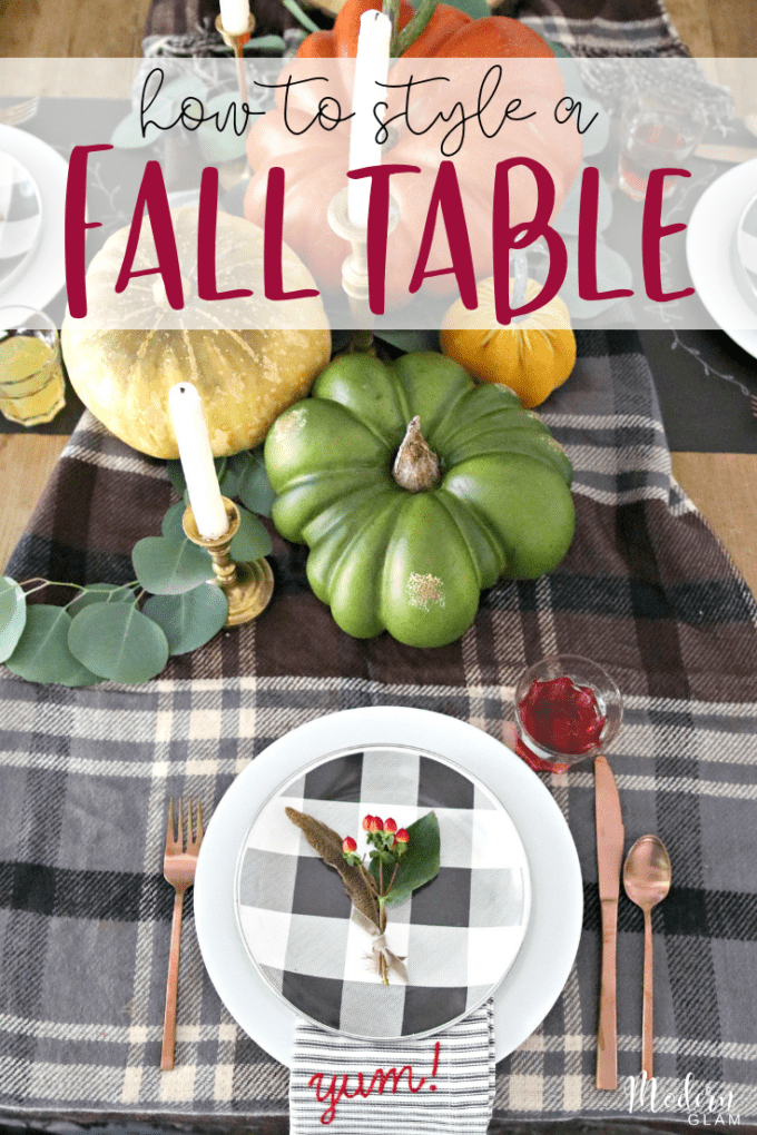 how to create a fall table