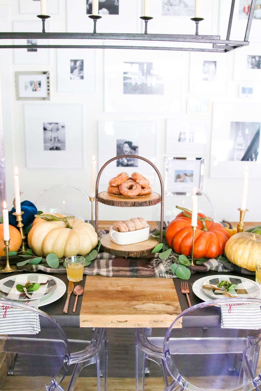 how to style a fall table