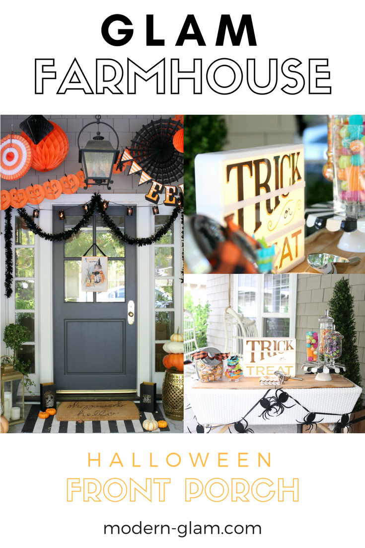 glam farmhouse halloween front porch