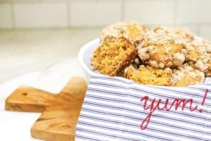 perfect pumpkin chai muffins with crumb topping