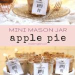 apple pie in mason jar