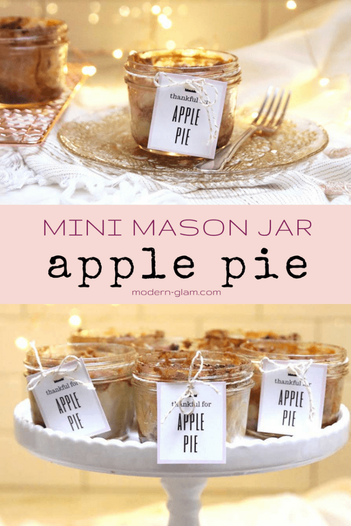 apple pie in mason jar