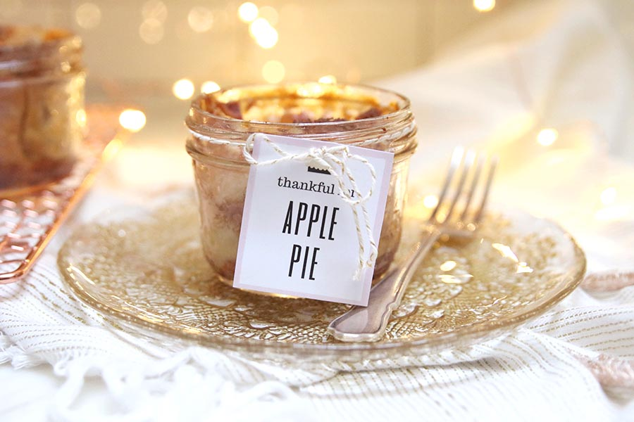 Apple Pie in a Mason Jar