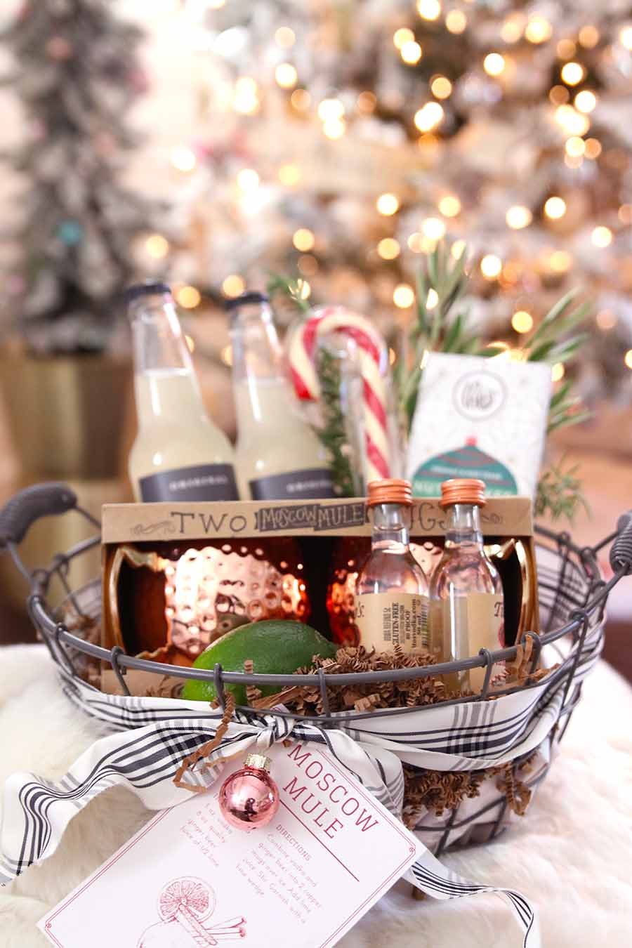 moscow mule gift basket diy hostess gift - modern glam