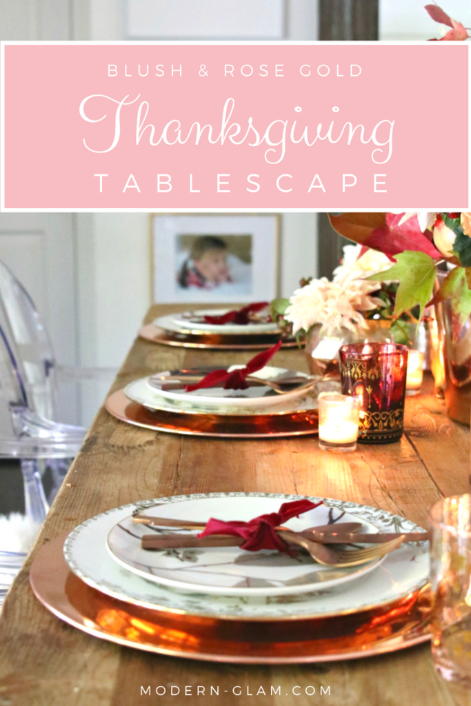 Blush and Wood Thanksgiving Table