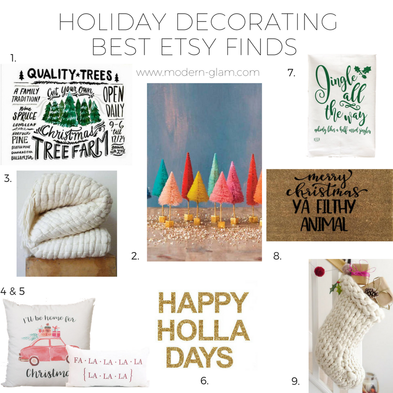 holiday decorating favorite etsy items - Etsy Christmas Decorations