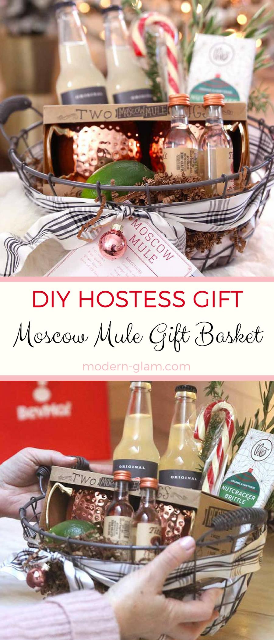 DIY hostess gift: Moscow Mule Gift Basket - Modern Glam