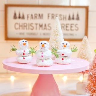 easy snowman donuts