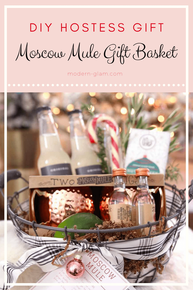 Gift Basket with copper mugs