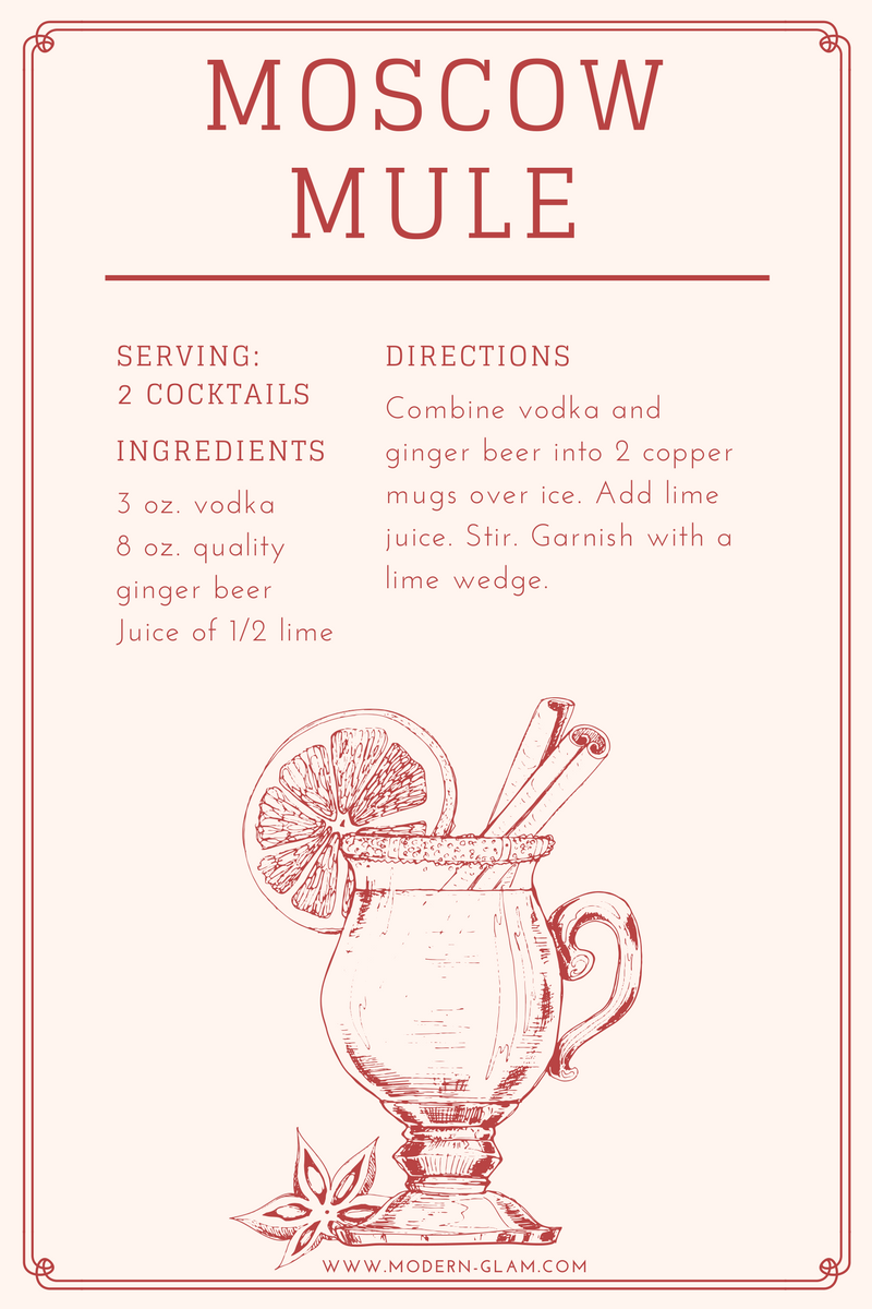 photograph relating to Moscow Mule Recipe Printable identified as Moscow Mule Present Basket Do-it-yourself Hostess Present - Ground breaking Glam