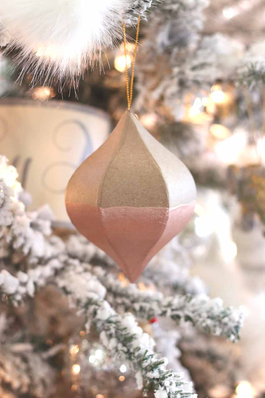 DIY Ornaments: Dipped Rose Gold