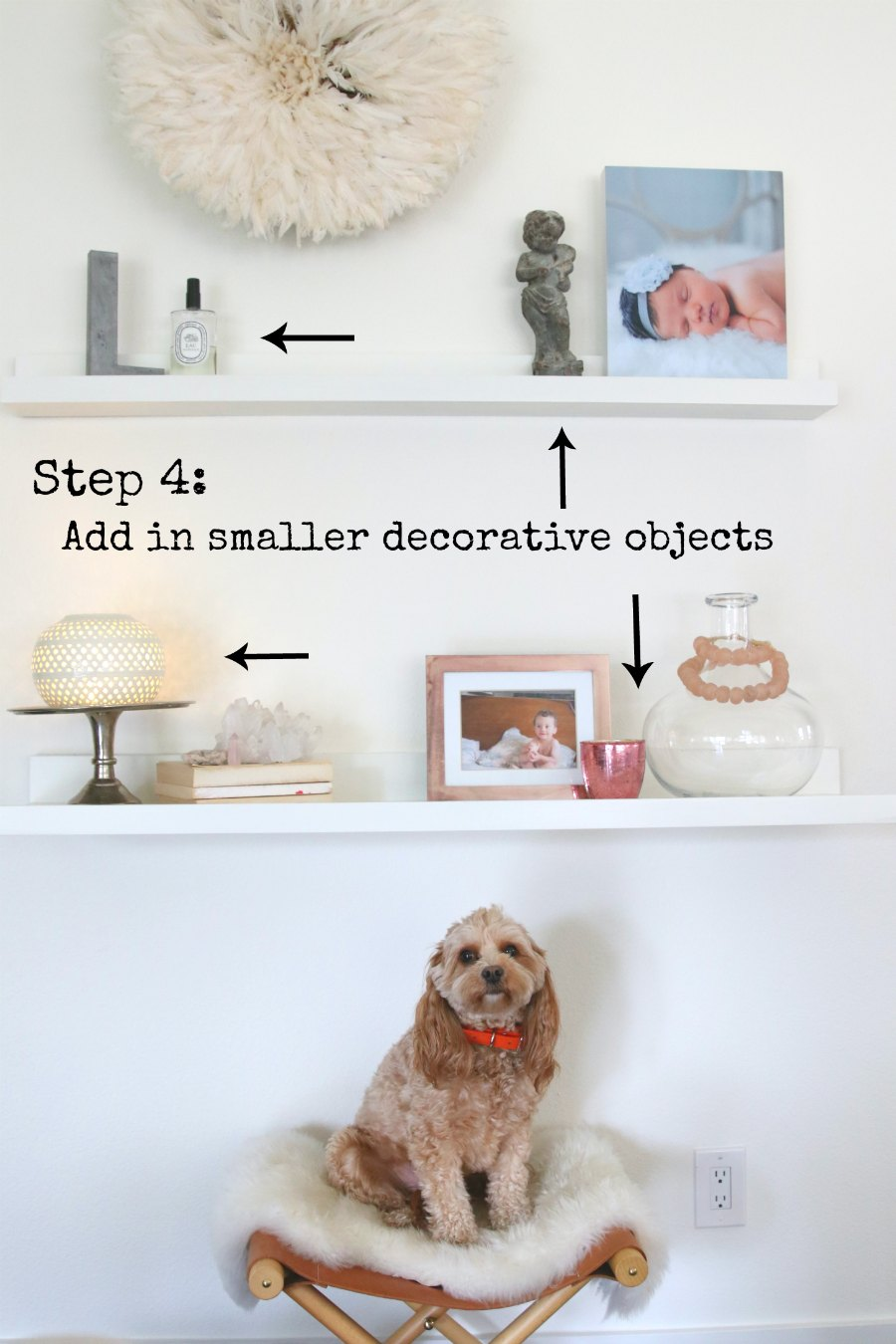 Step by Step How To Style Your Shelves