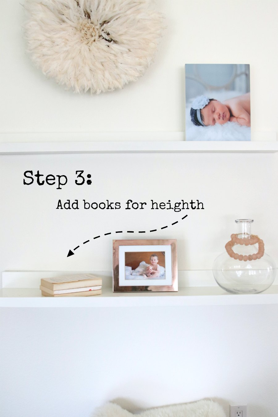 Step By Step Instructions on how to style your shelves