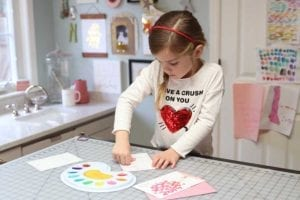 Kids Valentine's Day Thumbprint Art