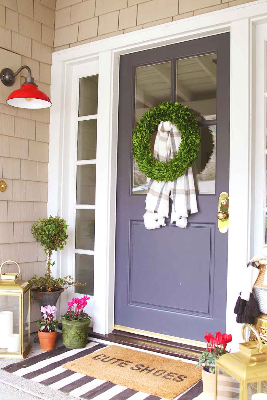 Valentine's Day Front Porch Decorating and Layered Doormat Guide