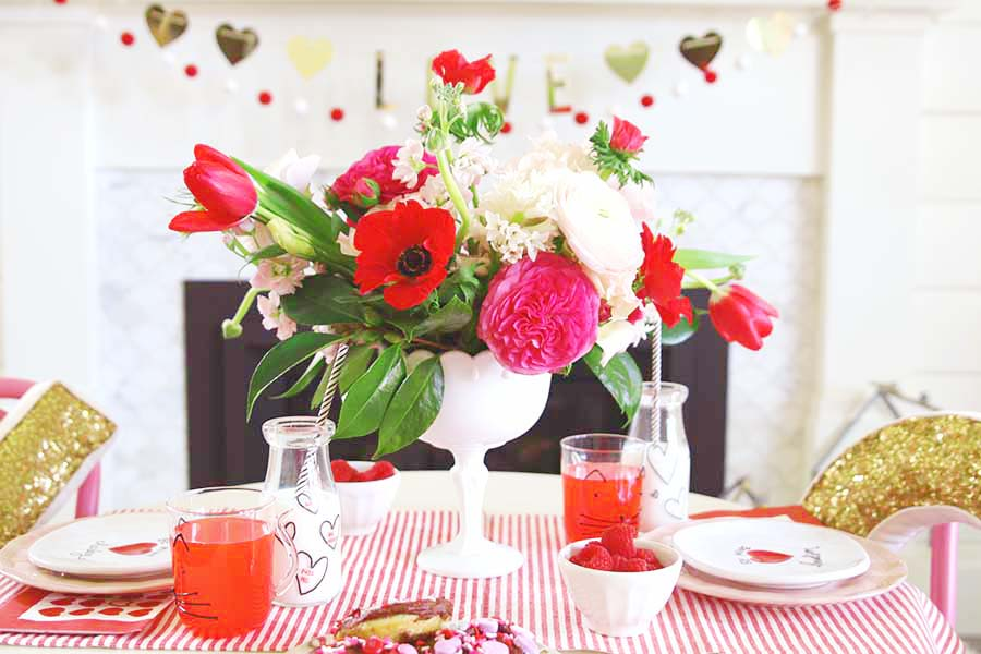 valentine's day table kids