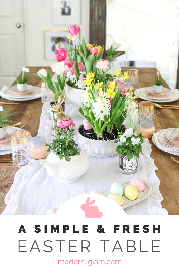 A Simple and Easy Easter Table. Easter Tablesetting Easter Tablescape. Easter Decor. Easter Decorations. Easter Entertaining