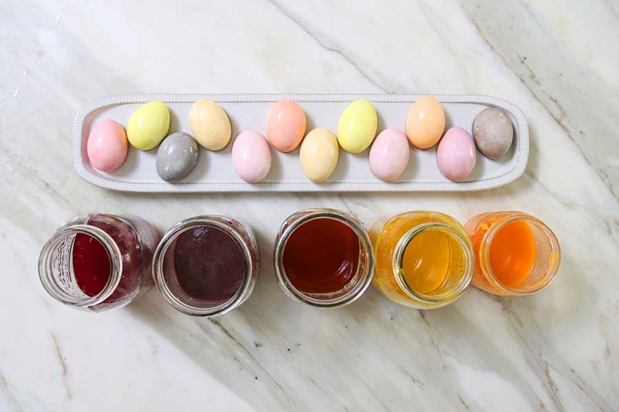 Naturally Dyed Easter Eggs Using Fruits and Vegetable