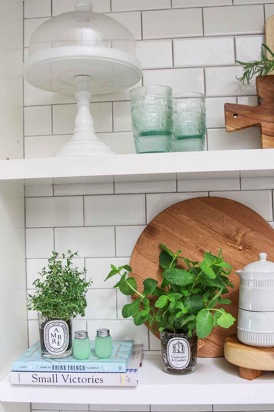 Chic and stylish indoor herb garden