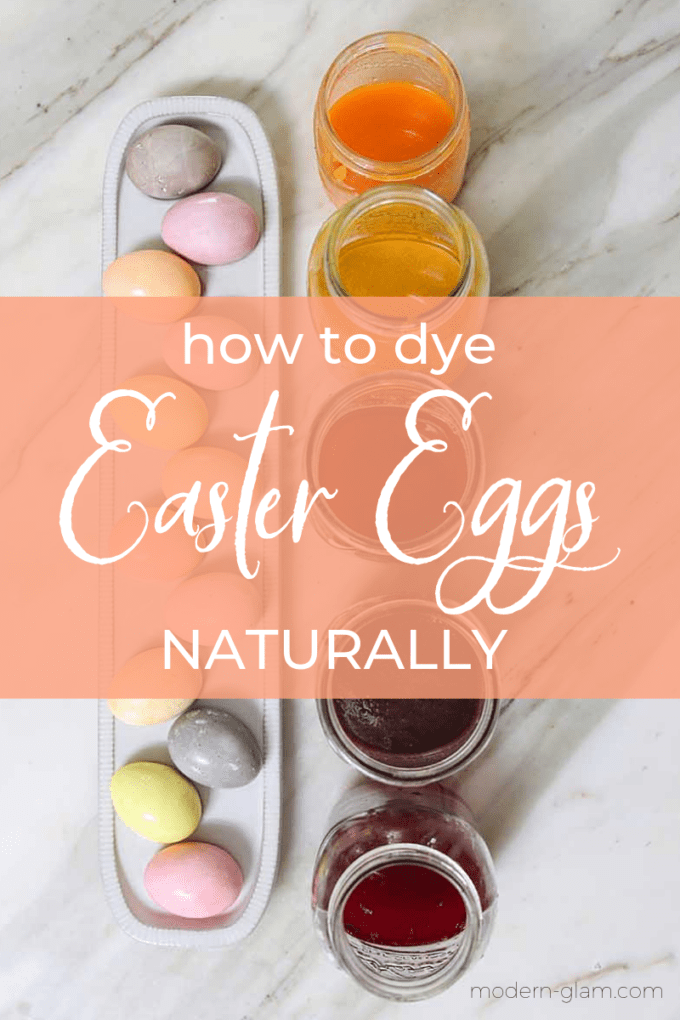 diy easter egg dying with vegetables