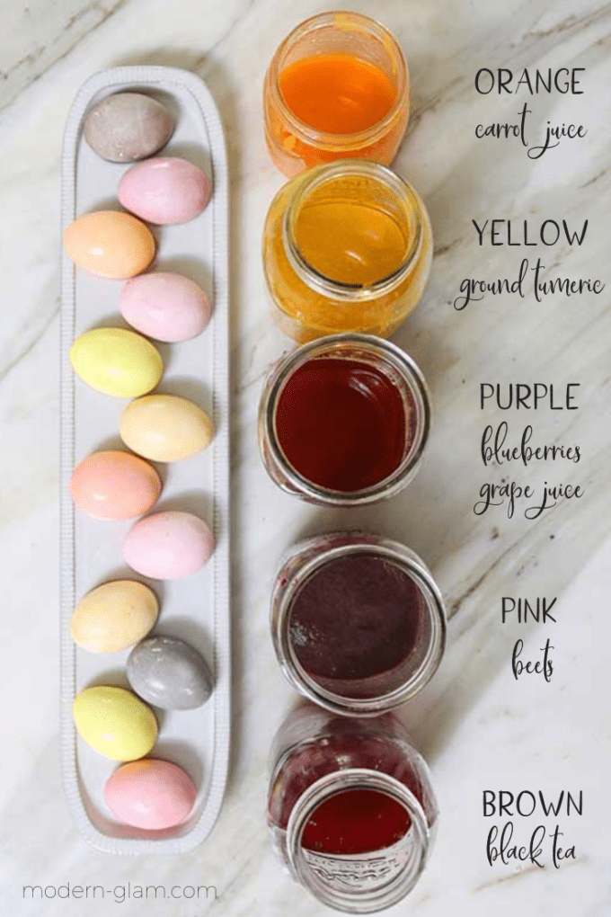 how to dye easter eggs naturally
