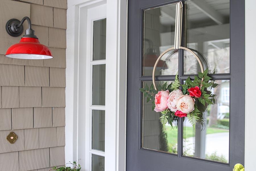 DIY: Modern Spring Floral Hoop Wreath