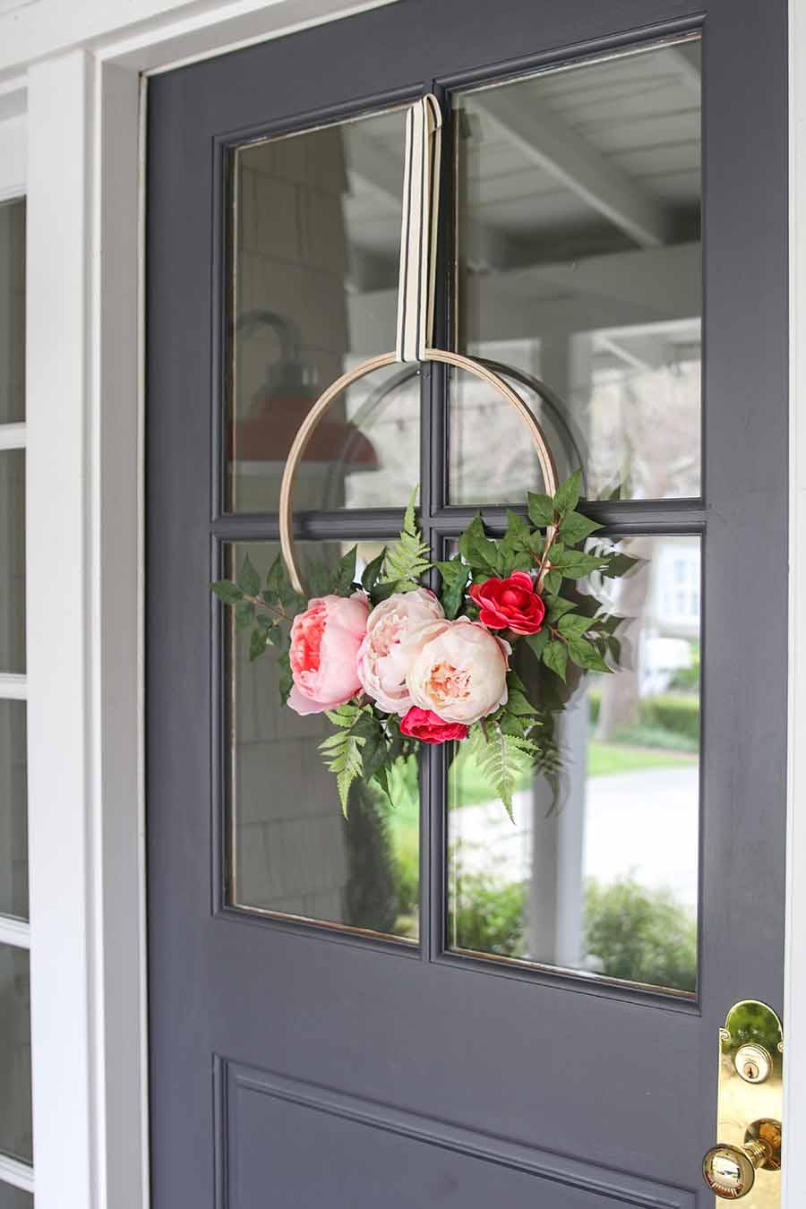 Modern Spring Wreath DIY