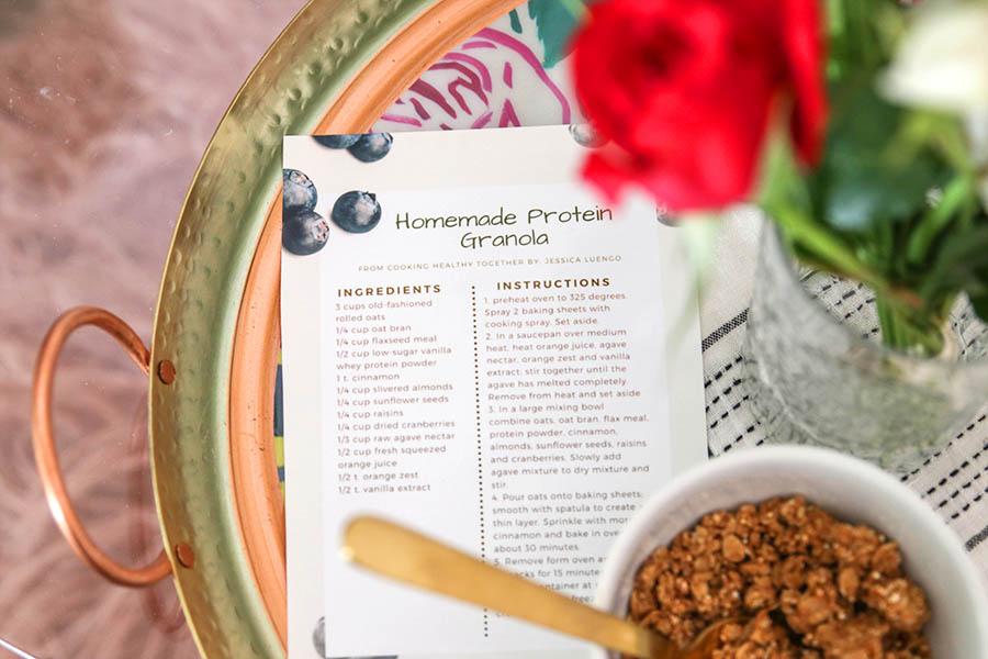 Homemade protein granola