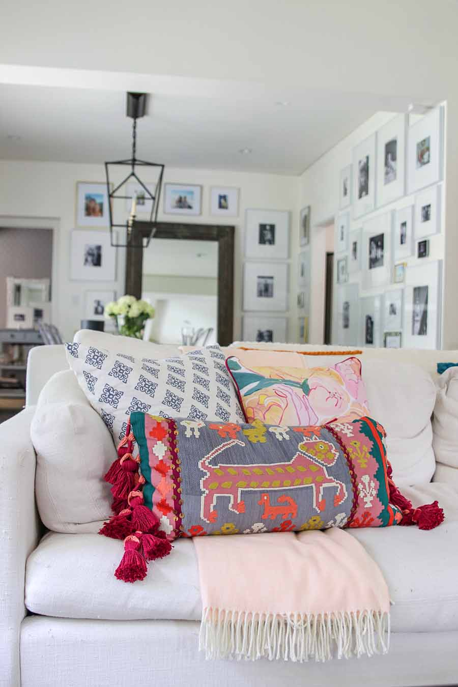 Boho Glam Spring Living Room