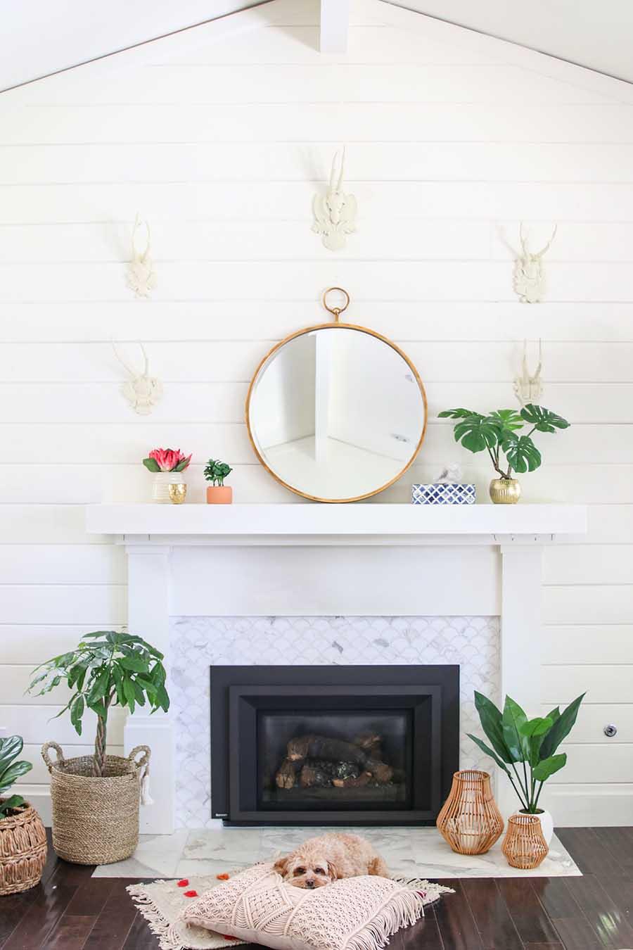 Boho Modern Living Room: Boho Glam Spring Living Room