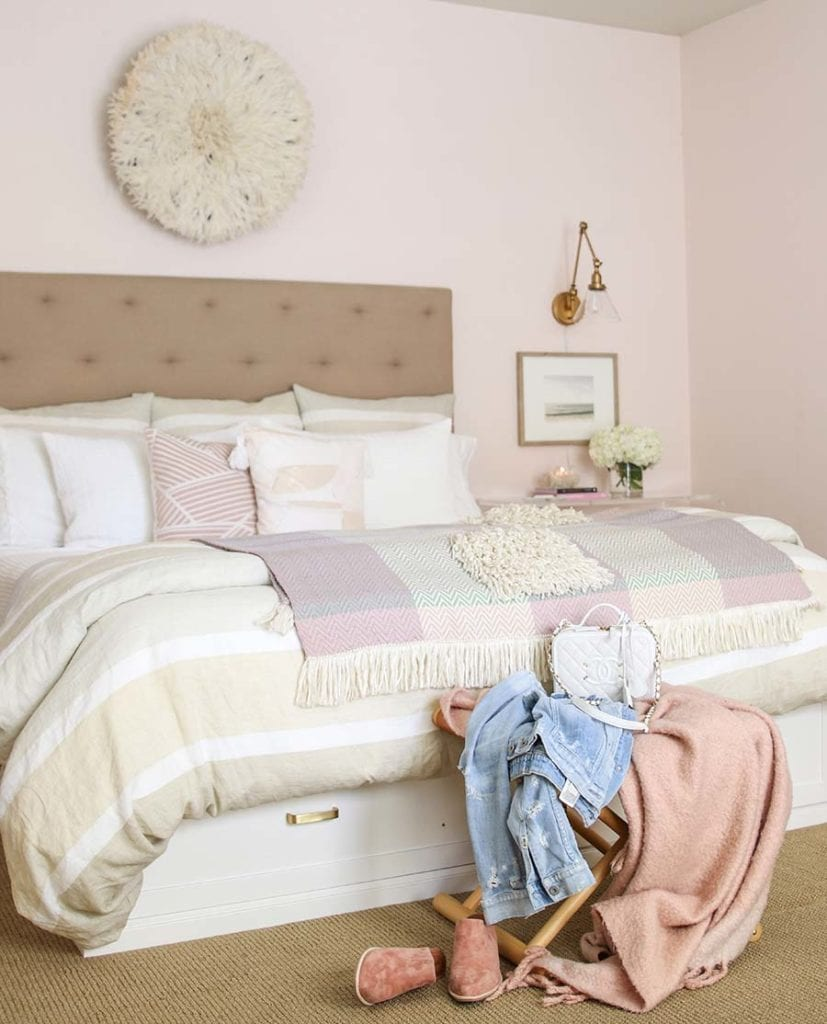 blush bedroom with juju hat
